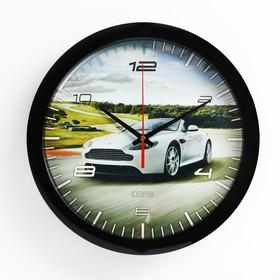 Часы настенные, серия: Транспорт, 'Спортивное авто', 28х28 см Ош