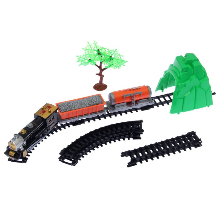 Железная дорога Классик товарный, работает от батареек, в пакете