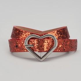 Ремень детский, пряжка металл, ширина - 2 см, цвет красный Ош