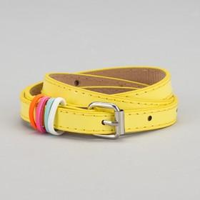 Ремень детский «Донна», лаковый, пряжка металл, ширина 1,5 см, цвет жёлтый Ош