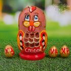 Пасхальная матрёшка «Курочка с яйцами»