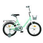 """Велосипед 16"""" Novatrack Maple, 2019, цвет мятный"""