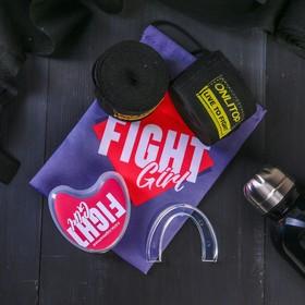 Набор для бокса «Борьба»: капа, бинты для бокса 2 шт. × 4 м Ош