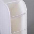 Органайзер 4-х секционный, 9,2×5×20,5 см, цвет белый - Фото 4
