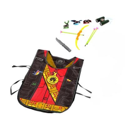 Игровой набор «Охотник» (жилет, лук, 3 стрелы, нож, бинокль, мишень), 38 х 32 см, в пакете