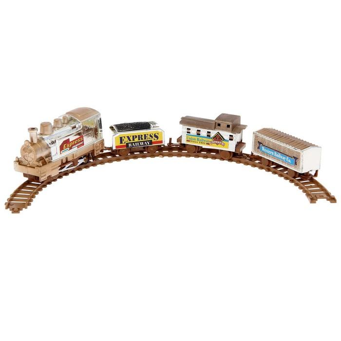 Железная дорога «Скорый поезд», работает от батареек, в пакете