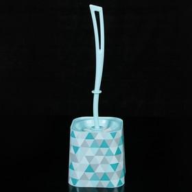 Ёрш туалетный с подставкой 'Пирамида', цвет голубой Ош
