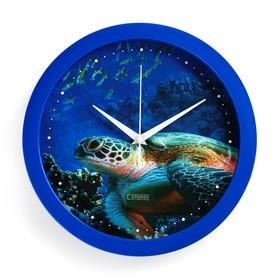 Часы настенные, серия: Животные, 'Черепаха', 28х28 см Ош