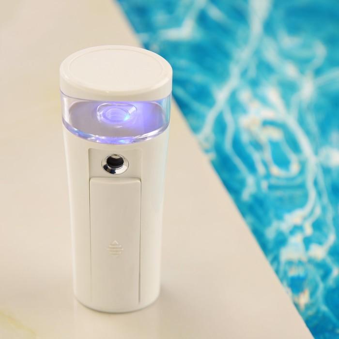 Увлажнитель для лица LuazON LHU-015, АКБ, карманный, USB (в комплекте), белый