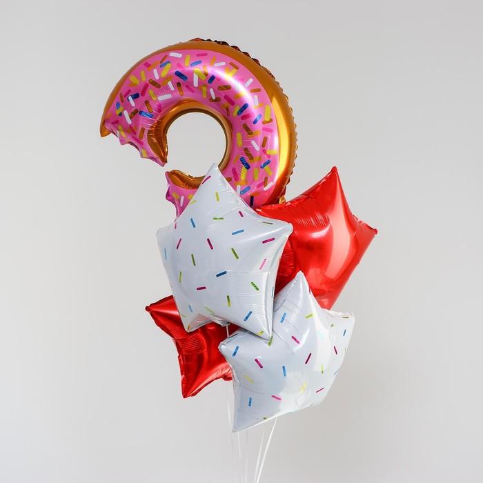 Букет из шаров «Пончик», фольга, набор 5 шт.