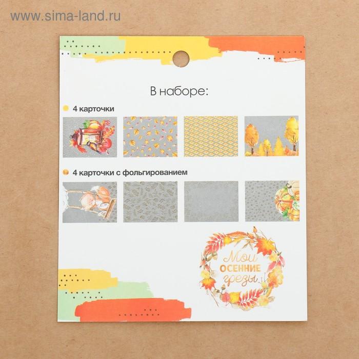 Набор ацетатных карточек для скрапбукинга «Мои осенние грёзы», 10 × 11 см