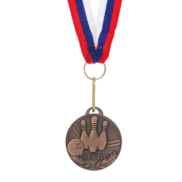Медаль призовая, 3 место, бронза, d=3,5 см
