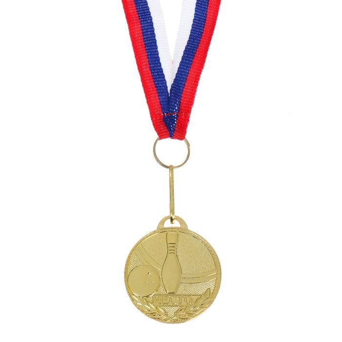 Медаль призовая, 1 место, золото, d=3,5 см