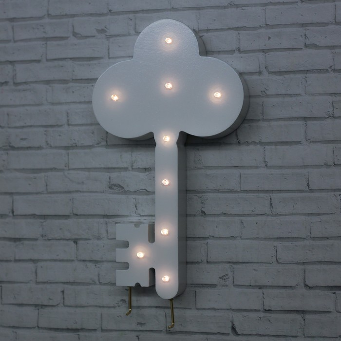 Ключница со светом «Ключик», 25 х 14 см