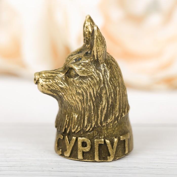 Напёрсток сувенирный Сургут, латунь