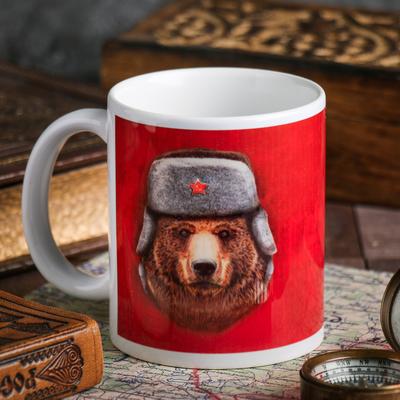 Кружка «С 23 февраля» медведь, 330 мл - Фото 1