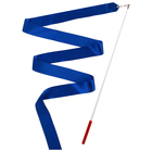 Лента гимнастическая с палочкой, 2 м, цвет синий