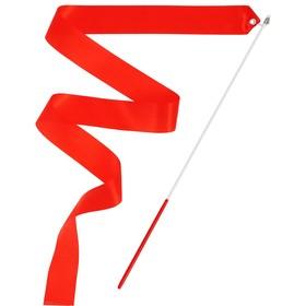 Лента гимнастическая с палочкой, 4 м, цвет фуксия Ош