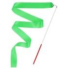 Лента гимнастическая с палочкой, 4 м, цвет зеленый