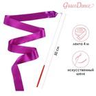Лента гимнастическая с палочкой, 4 м, цвет фиолетовый