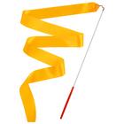 Лента гимнастическая с палочкой, 6 м, цвет оранжевый