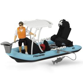 Игрушка PlayLife «Рыбацкая лодка», с фигуркой и аксессуарами