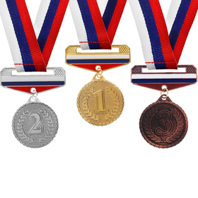 Медаль призовая с колодкой триколор 156 '3 место' Ош