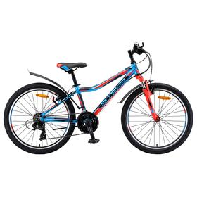 Велосипед 24' Stels Navigator-450 V, V010, цвет синий/красный/чёрный, размер 13' Ош