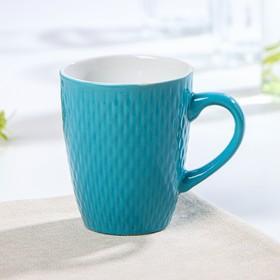 Кружка Доляна «Лилу», 190 мл, цвет голубой