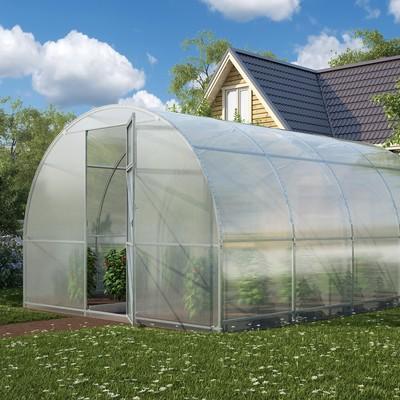 Каркас теплицы «Огородная», 4 × 3 × 2,1 м, оцинкованная сталь, профиль 20 × 20 мм, без поликарбоната