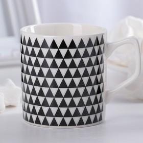 Кружка Доляна «Треугольники», 200 мл, 10×7×7,6 см