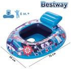 Круг для плавания с сиденьем «Лодочка», 76 х 65 см, от 6-18 мес, цвета МИКС, 34107 Bestway
