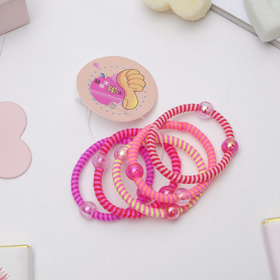 Резинка для волос 'Магическая', 3 см, шарики прозрачные, (цена за 1 шт.), микс Ош