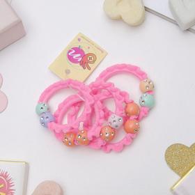Резинка для волос 'Магическая' 3 см шарики, микс Ош