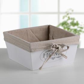 Короб для хранения Доляна Home, 19×19×9,5 см, цвет белый