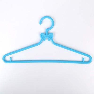 Вешалка-плечики для одежды детская «Бантики», размер 30-34, цвет МИКС