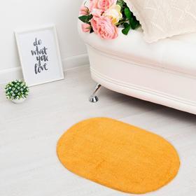 Ковер овальный «АНИКА», 40х60 ± 3 см, цвет оранжевый. Ош