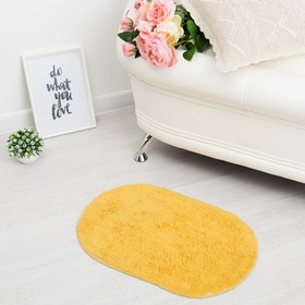 Ковер овальный «АНИКА», 40х60 ± 3 см, цвет желтый. Ош