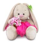 Мягкая игрушка «Зайка Ми» c букетом в розовой юбке, 15 см
