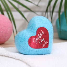 "Шипучая соль для ванн  ""Сердце""  Beautiful  day, 130 г"