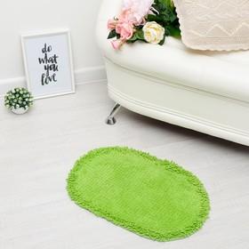 Ковер овальный «МУНГ», 40х60 ± 3 см, цвет зеленый. Ош