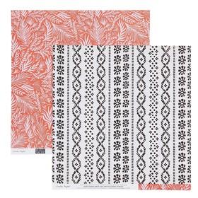 Бумага для скрапбукинга Crate Paper - Коллекция «HERE & THERE» - Лист «FOREIGNER»