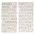 Стикеры из фоамирана Crate Paper - Алфавит - Коллекция «Good vibes»