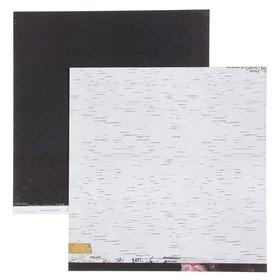 Бумага для скрапбукинга Heidi Swapp - Коллекция «Hawthorne» - Лист «MIDNIGHT»