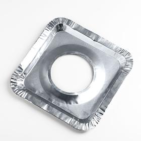 Набор пластин для защиты газовой плиты, 21,5×21,5 см, 5 шт
