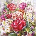 """Картина на подрамнике """"Акварель. Розы"""" 30*30 см"""