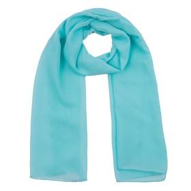Шарф женский, цвет бирюзовый, размер 50x160