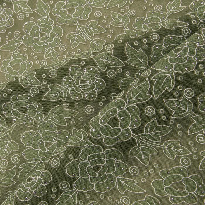 Платок женский, цвет хаки, размер 70х70