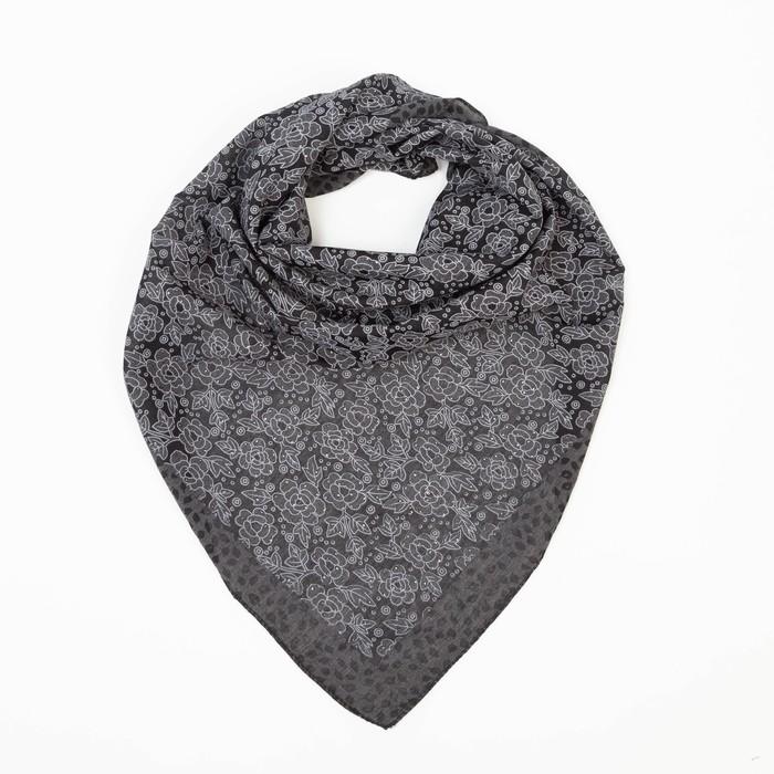Платок женский, цвет чёрный, размер 70х70
