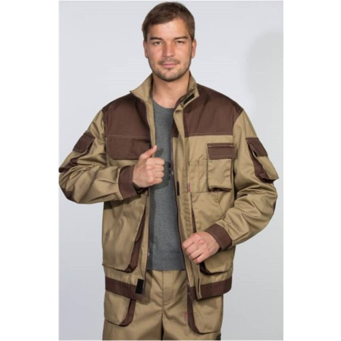 Kуртка «Терра» (пилот) бежевая, размер 52-54/170-176